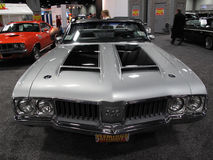 Silver Oldsmobile 442 Stock Photo