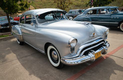 Silver 1949 Oldsmobile Futuramic 88 Fastback Royalty Free Stock Photo