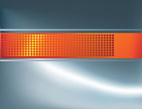 Silver and orange strip background Royalty Free Stock Image
