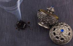 Silver Oriental Artistic Arabian Oud Perfume Royalty Free Stock Photography