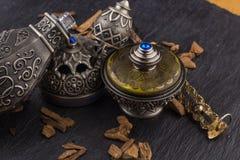Silver Oriental Artistic Arabian Oud Perfume Royalty Free Stock Images