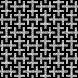 Silver oriental swastika pattern Stock Image