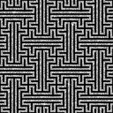 Silver oriental swastika pattern Stock Photos