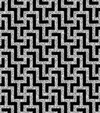 Silver oriental swastika pattern Royalty Free Stock Photos