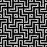 Silver oriental swastika pattern Royalty Free Stock Image