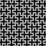 Silver oriental swastika pattern Royalty Free Stock Photo