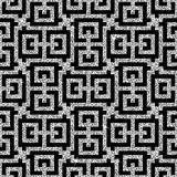 Silver oriental swastika pattern Royalty Free Stock Images
