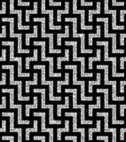 Silver oriental swastika pattern Royalty Free Stock Photography