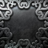 Silver ornamental plate Royalty Free Stock Photography