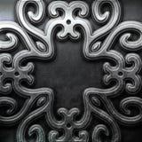 Silver ornamental plate Stock Photos