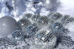 Silver ornaments Royalty Free Stock Photography