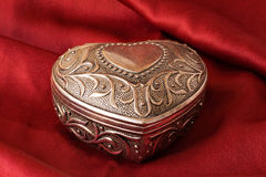 Silver ornate heart Royalty Free Stock Photos