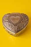 silver ornate heart Stock Images