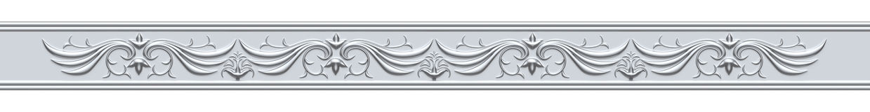 Silver Ornate Strip Stock Images