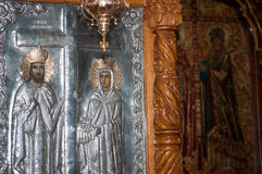Silver orthodox icon Stock Photo