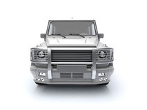 Silver outroader with massive bumper Royalty Free Stock Images