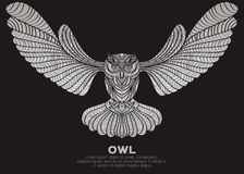 The silver owl Royalty Free Stock Photos