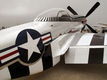 Silver P51 Mustang Fighter Royalty Free Stock Photos