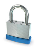 Silver Padlock. Close up of silver padlock. Includes clipping path royalty free stock image