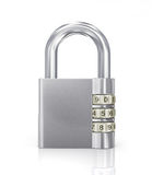 Silver Padlock with later code Royalty Free Stock Photos