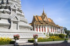 Silver Pagoda the Cambodia Royal Palace Royalty Free Stock Images