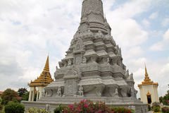 Silver Pagoda in Phnom Penh Stock Photos