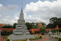 Silver Pagoda in Phnom Penh Royalty Free Stock Images