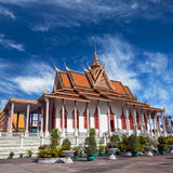Silver Pagoda in Phnom Penh, Cambodia. It was known as Wat Ubosoth Ratanaram. The temples official name is Preah Vihear Preah Keo Morakot which is commonly Royalty Free Stock Photo