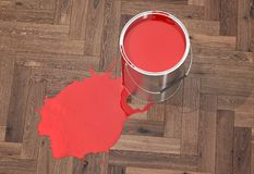 Silver Paint Buckets - 3D Rendering Stock Images