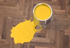 Silver Paint Buckets - 3D Rendering Stock Photos