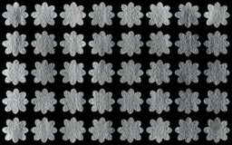 Silver painted flowers pattern. Silver painted flower pattern. Silver shining texture. Silver paint Royalty Free Stock Image