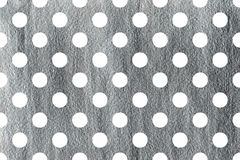 Silver painted polka dot background. Pattern with dots for scrapbooks, wedding, party or baby shower invitations Royalty Free Stock Photo