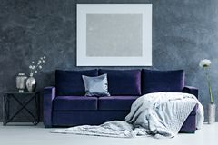 Silver painting in living room stock photography