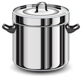 Silver pan Stock Photo