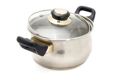 Silver pan Stock Image