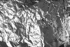 Silver paper foil Stock Images