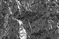 Silver paper of foil Stock Photos