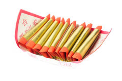 Silver paper, gold paper, joss paper for Chinese celebration with Chinese bless word Stock Photo