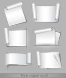 Silver paper scroll vector illustration
