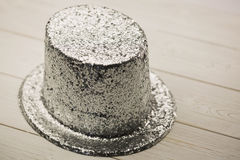 Silver party hat Royalty Free Stock Images