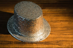 Silver party hat Royalty Free Stock Image