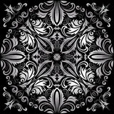 Silver pattern. On the black background Royalty Free Stock Image