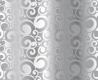 Silver pattern. Abstract seamless silver metal pattern, vector illustration Stock Photos