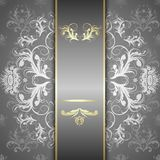 Silver pattern on a beautiful background Royalty Free Stock Photo