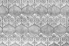 Silver pattern Crafts wall in the temple of thailand Lanna style royalty free stock photos