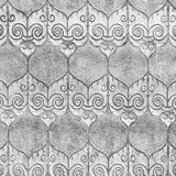 Silver pattern Crafts wall in the temple of thailand Lanna style stock photography