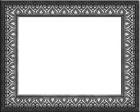 Silver patterned frame Stock Photography