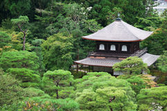 Silver pavilion. At summer morning, Kyoto, Japan Stock Image