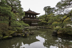 Silver Pavillion in Japanese zen garden in Kyoto Royalty Free Stock Image