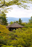 Silver Pavillion in Kyoto, Japan amidst trees Royalty Free Stock Images